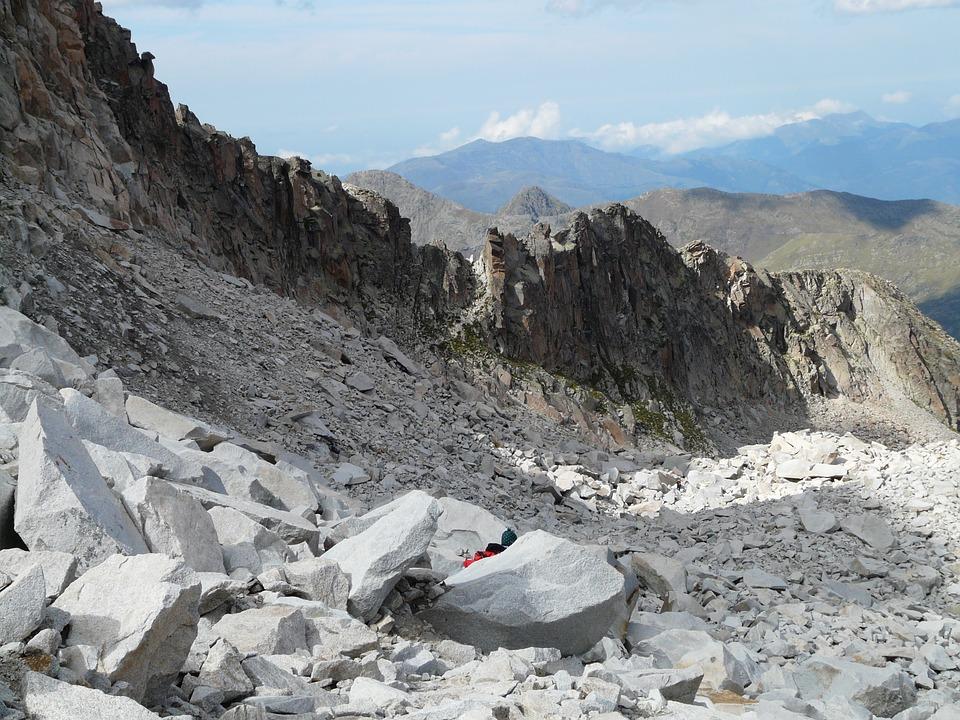 Free photo Hike Mountains Rock Scree Pyrenees Pico Aneto.
