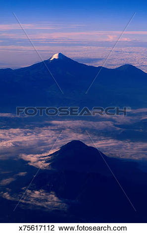 Stock Photo of Mexico, Veracruz, Pico De Orizaba, top of snow.