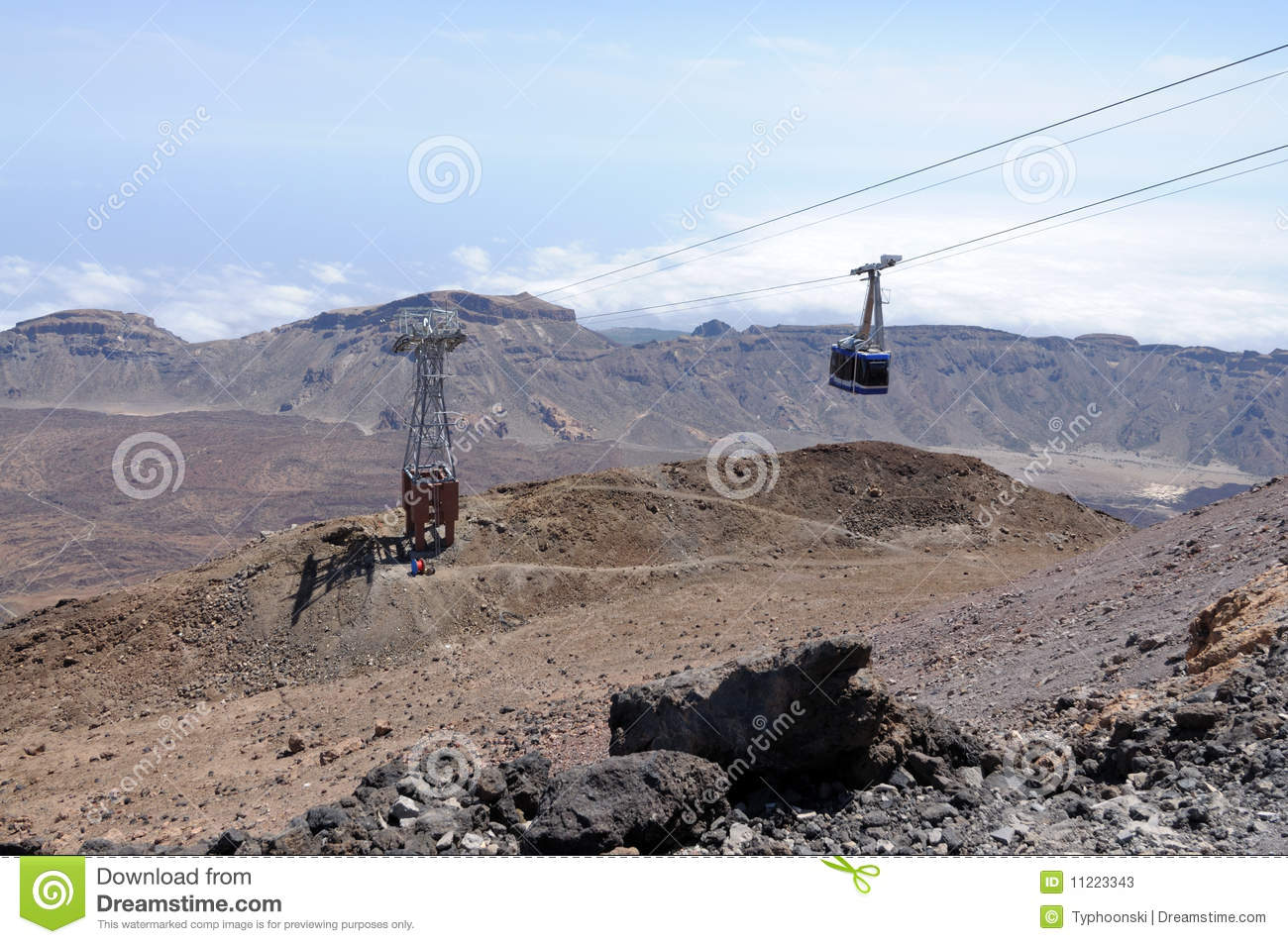 Cablecar To Pico De Teide, Tenerife Stock Photos.