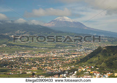 "Stock Photo of ""Panorama from the Mirador de Jardina to San."