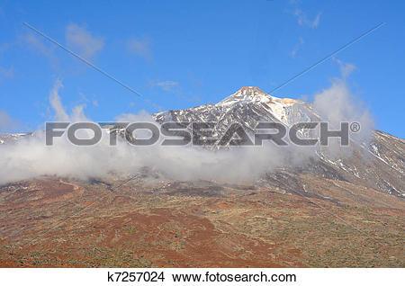 Stock Photo of Volcano Pico del Teide, El Teide National Park.