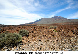 La catedral rock national park las canadas del teide Stock Photo.