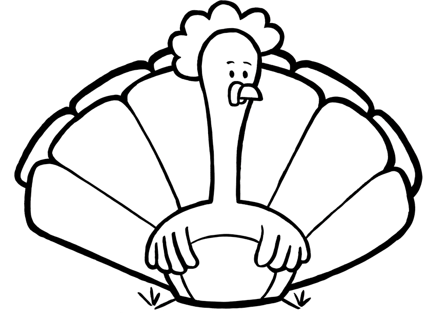 Cooked Turkey Drawing.