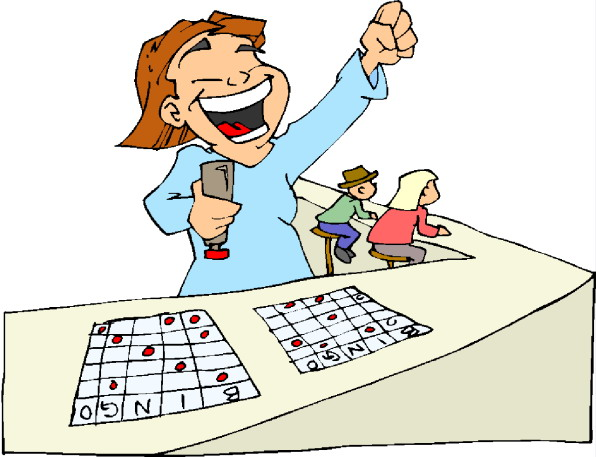 People playing bingo clipart image #38624.