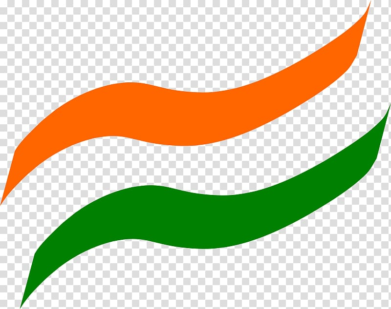 Green and orange logo, Flag of India PicsArt Studio, India.