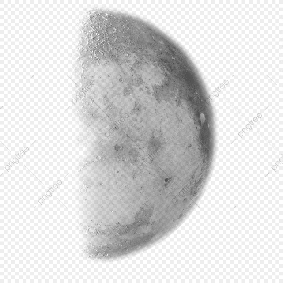 Half Moon Clipart Transparent Picsart Png, Moon Png Clipart.