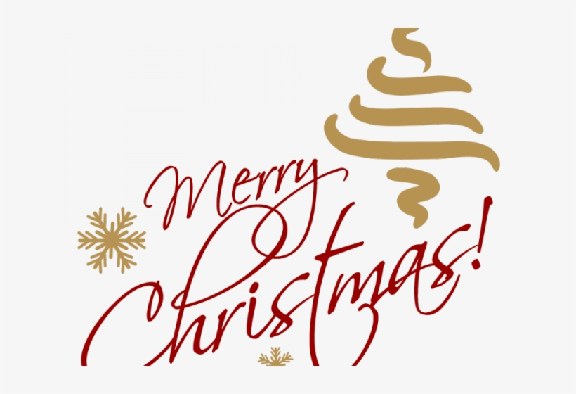Merry Christmas Text Clipart Picsart Png.