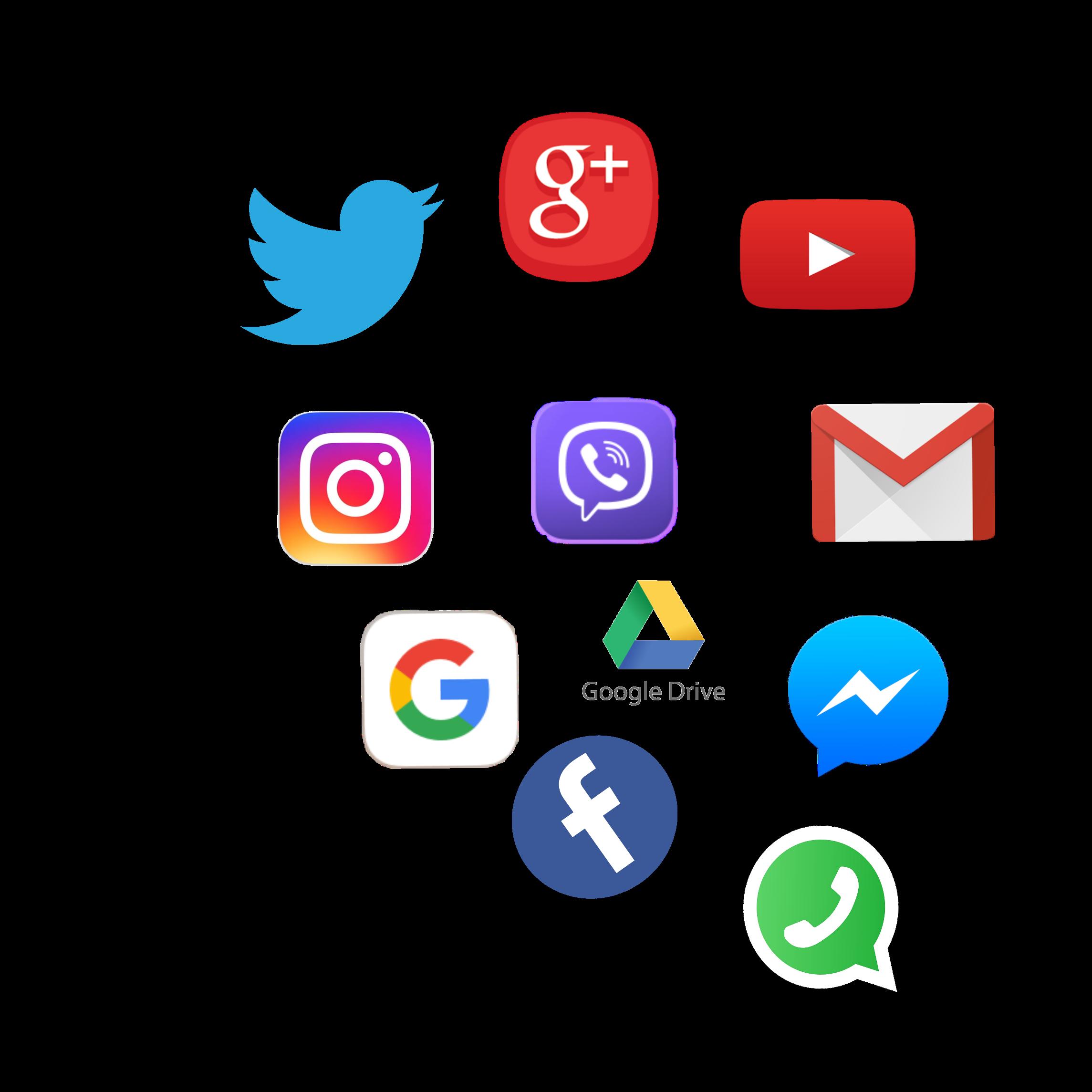 facebook messenger google whatsapp yahoo gmail youtube.