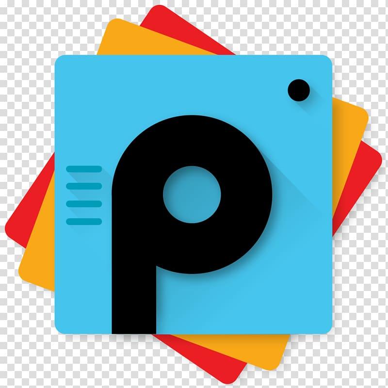 Blue and black card illustration, PicsArt Studio Android.