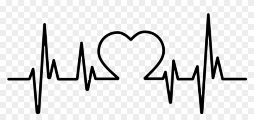 Heartbeat Figure Love Heart Sticker Picsart Png Image.