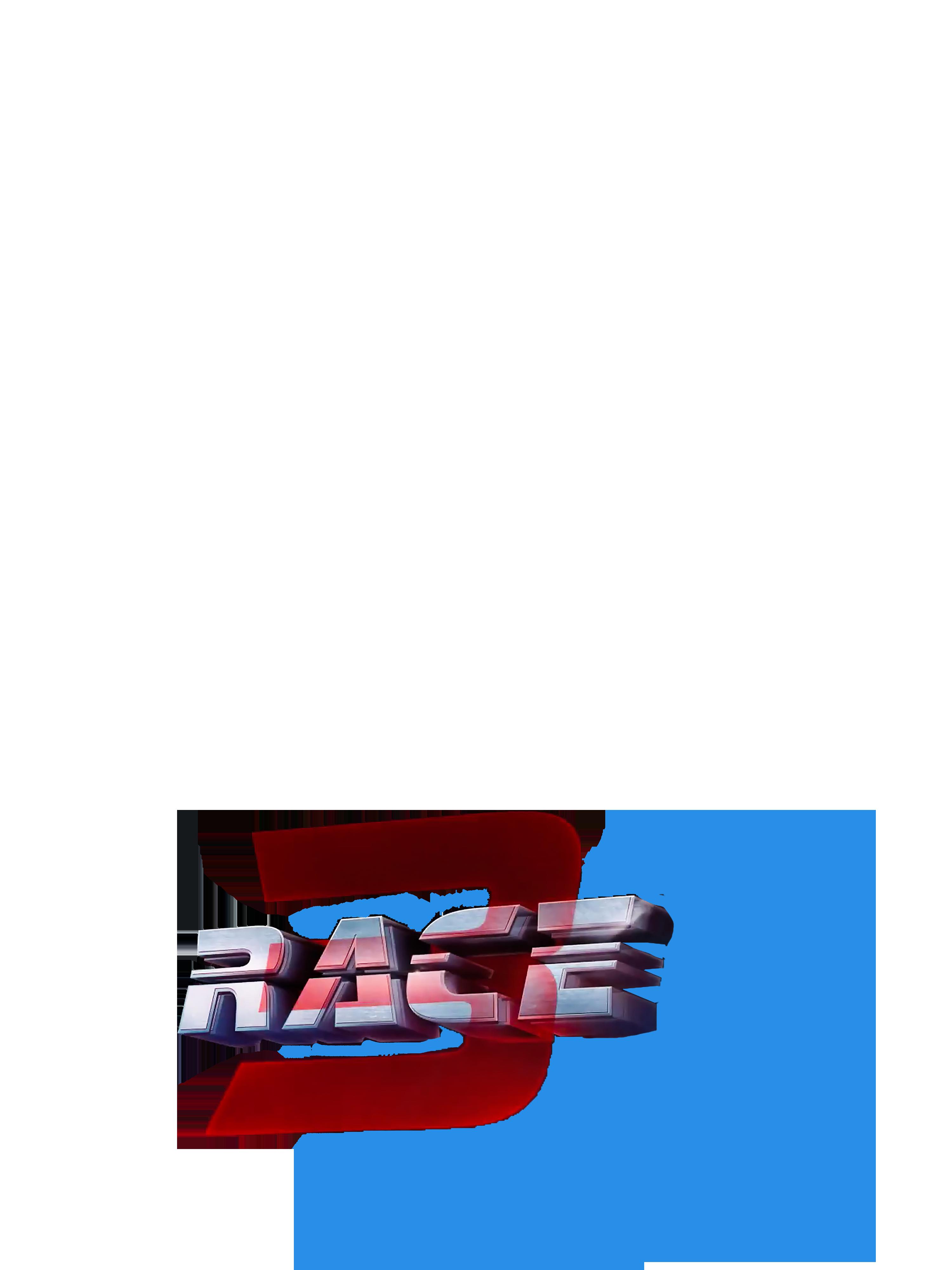 Race 3 movie poster text png,Picsartallpng.com.