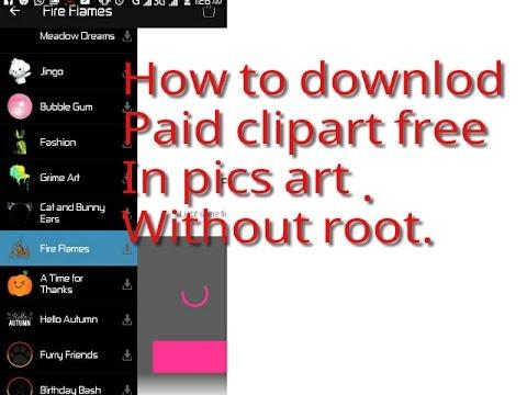 Picsart Paid Cliparts.