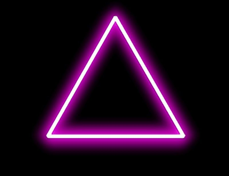 Pin by Sharique Jamal Ansari on Neon triangle Png.