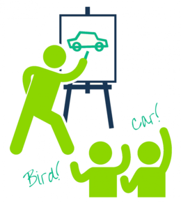 Pictionary clipart.