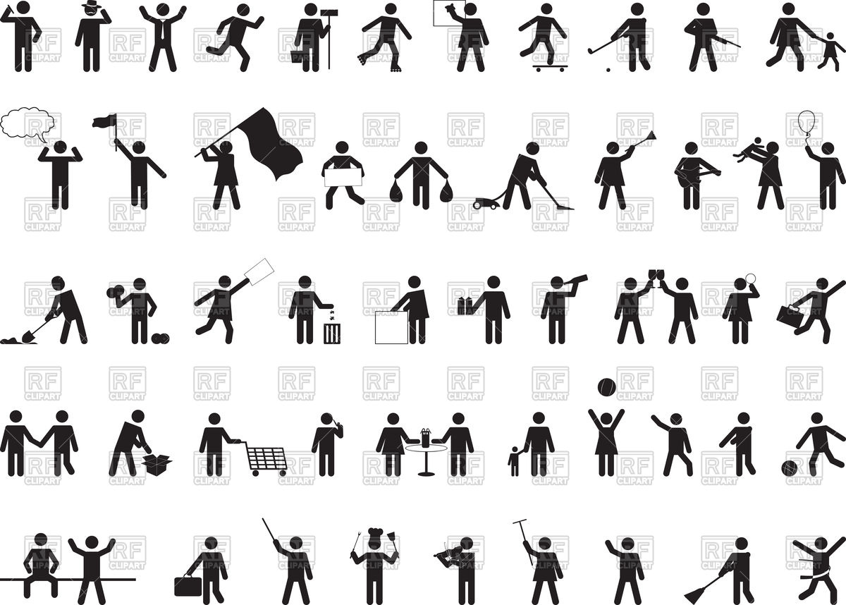 Common pictogram people activities Vector Image #72160.