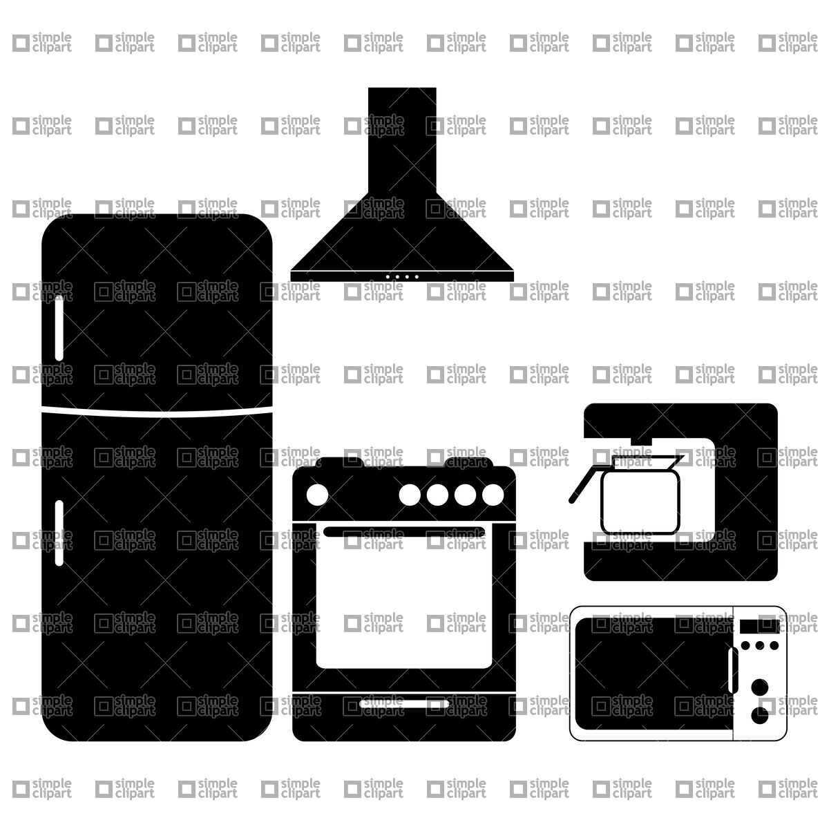 Pictograms of kitchen appliances Vector Image #21303.