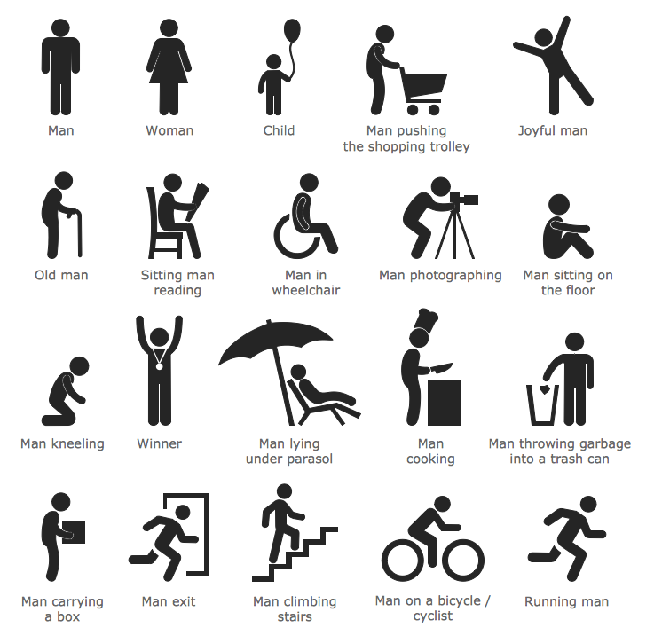 Infographic people clipart.