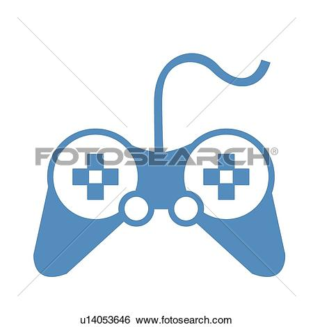 Clip Art of video game, icons, game, pictorial symbol, pictograph.