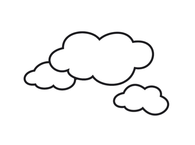 Coloring Pages Of Clouds.
