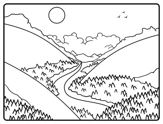 Valley clipart black and white » Clipart Station.