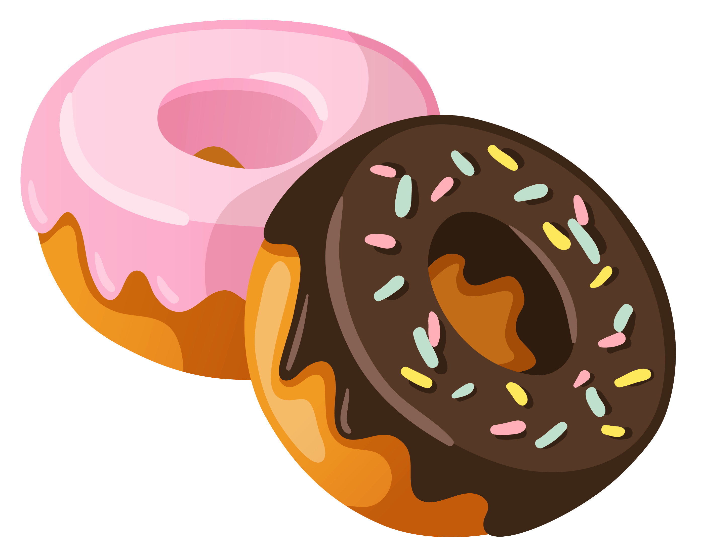 Donuts Clipart transparent PNG.
