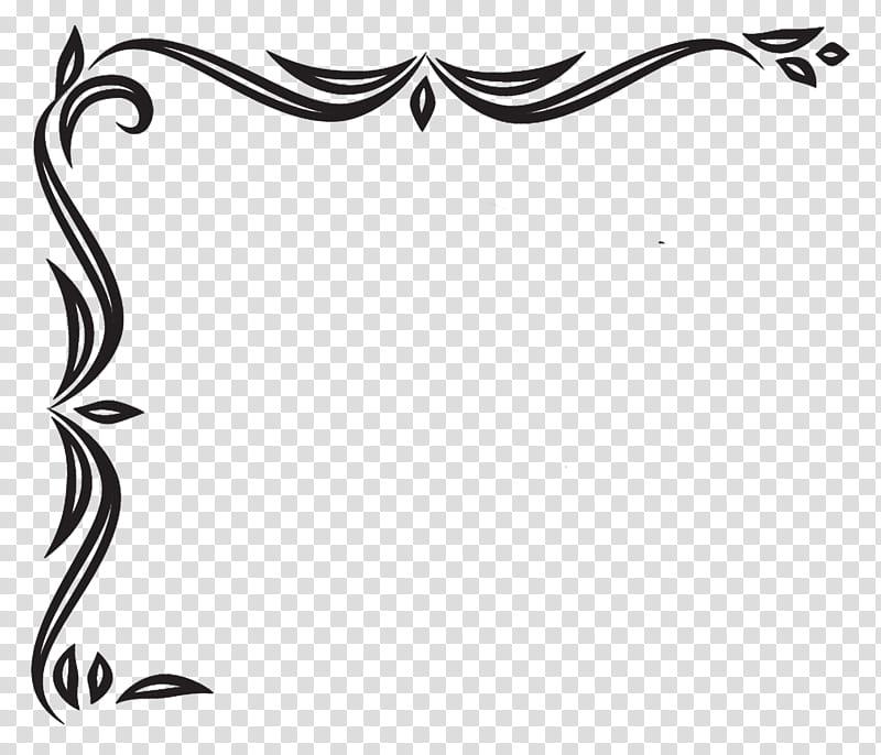 Corners R, black frame transparent background PNG clipart.