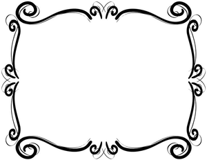 Scrollwork Frames Borders Clipart.