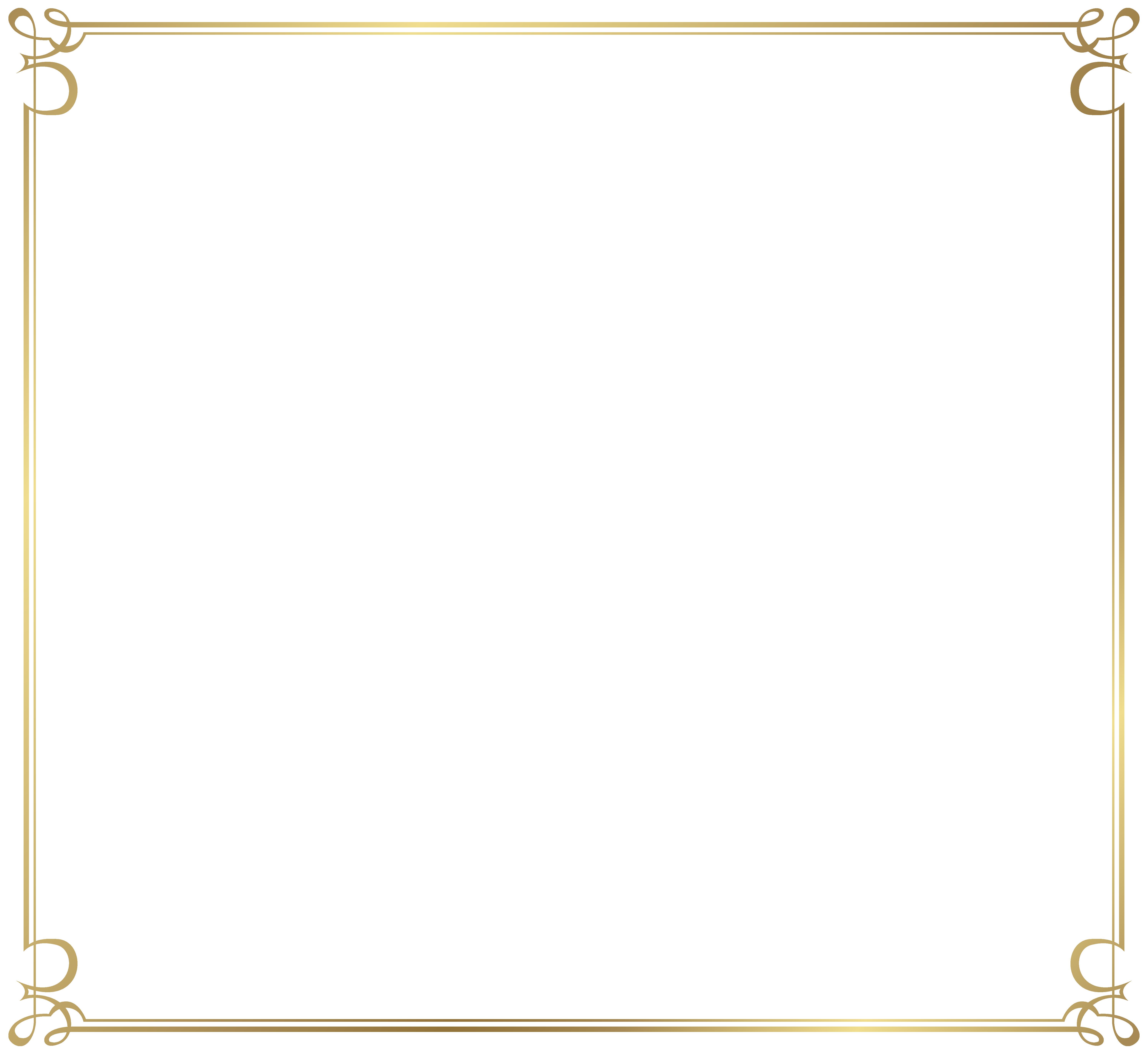 Decorative Frame Border PNG Image.