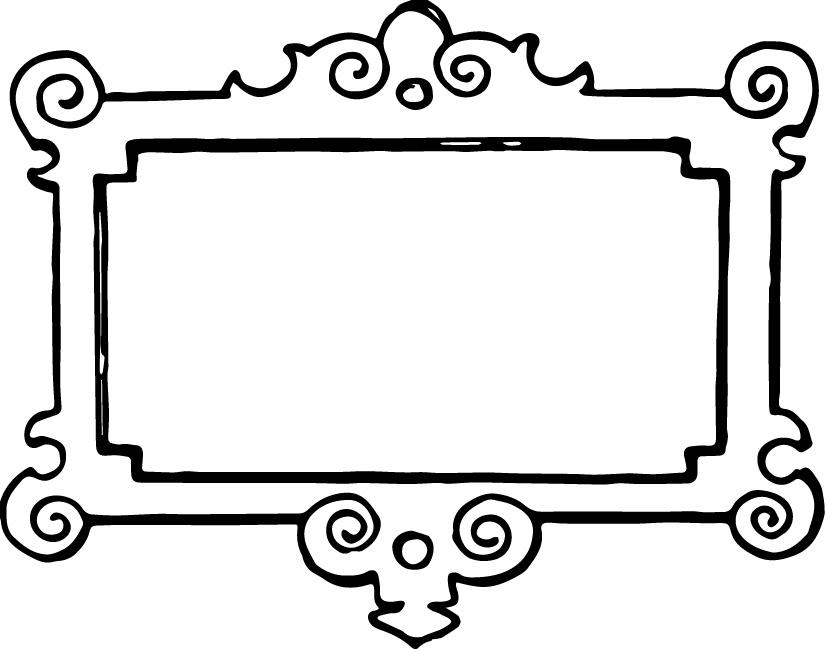 Frame Clip Art Black And White.