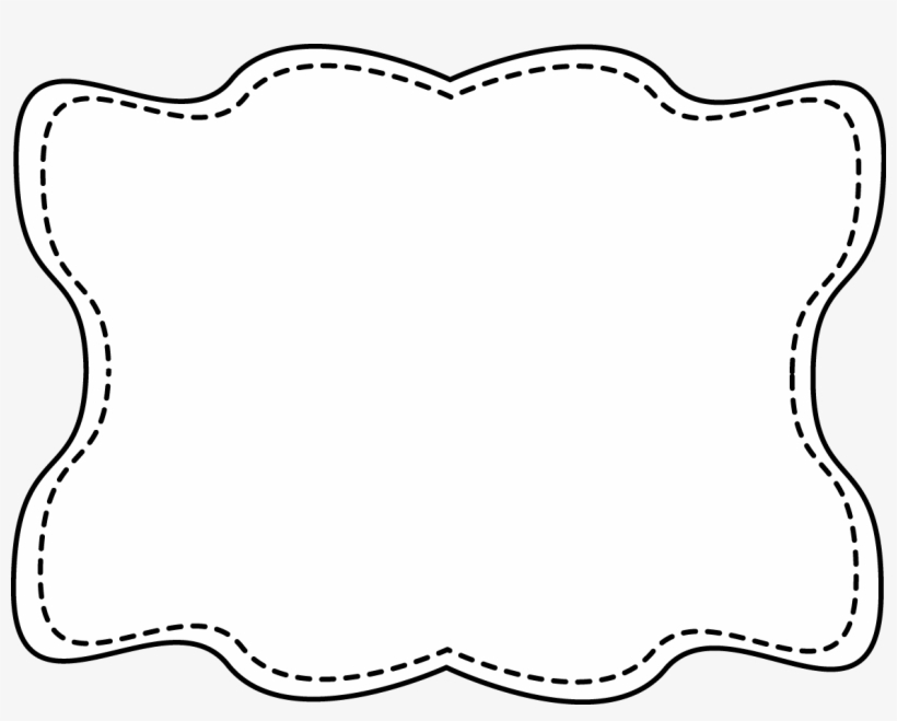 Fancy Frame Clip Art Black And White.