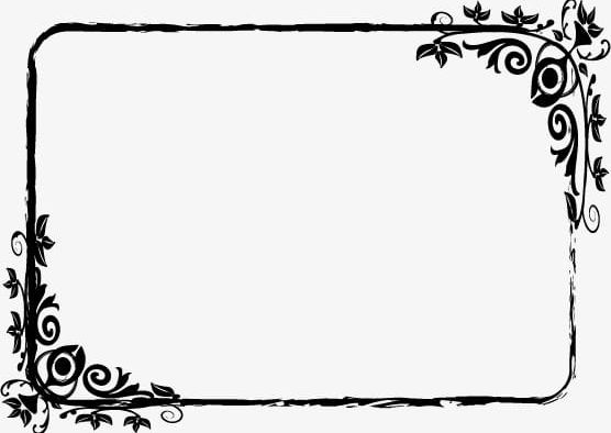 Black And White Pattern Frame PNG, Clipart, Black, Black.