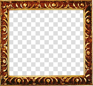 Small Frameima, brown painting frame transparent background.