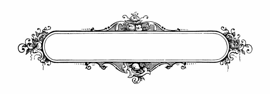Label Border Frame Decorative Design Printable Clipart.