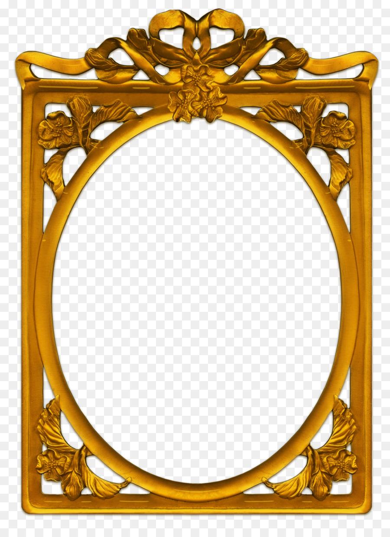 Gold Frame Frame clipart.