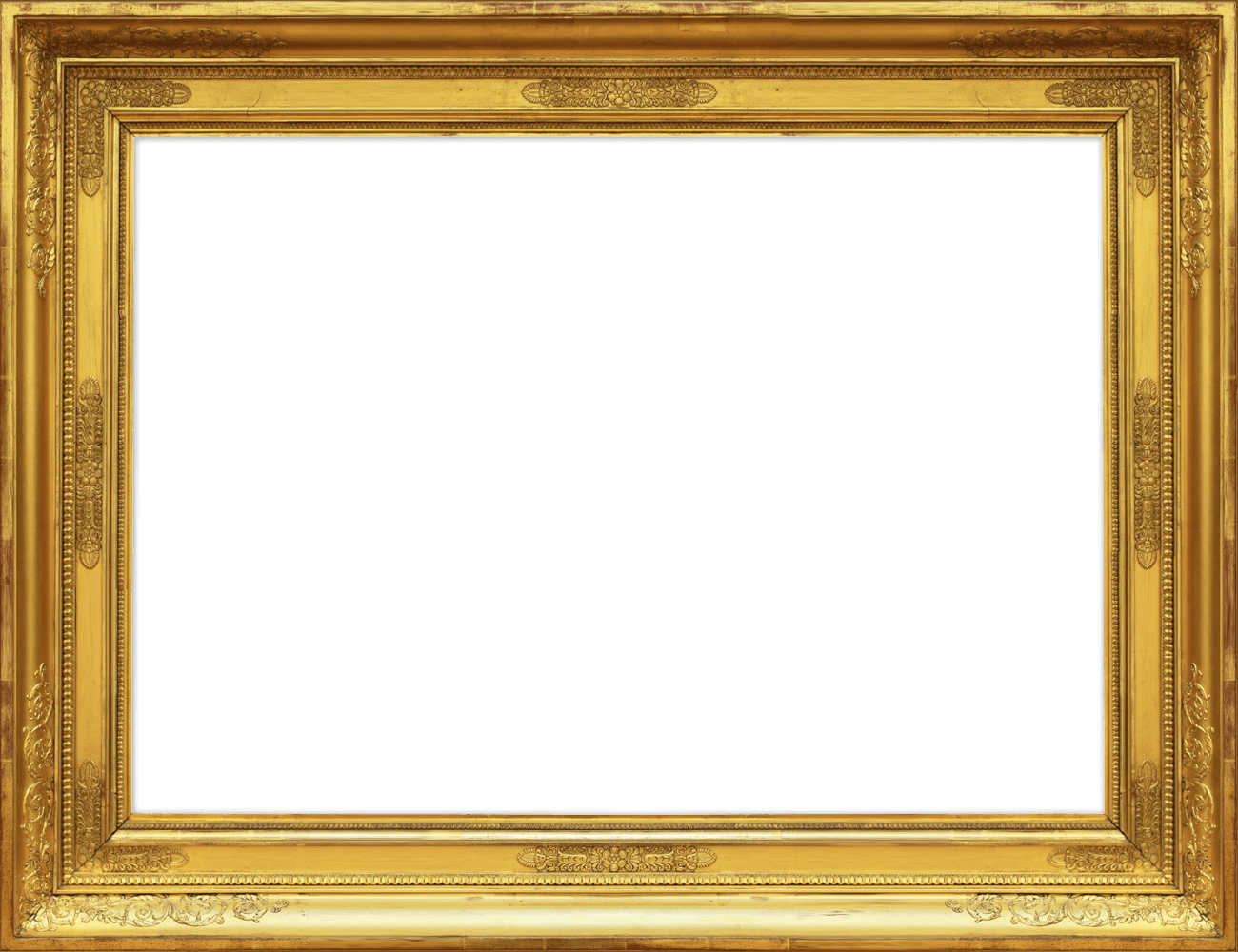 Gold Luxury Frame PNG Free.