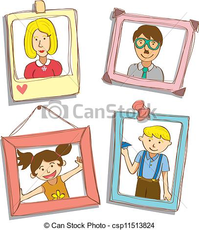 Family picture frame clipart » Clipart Station.