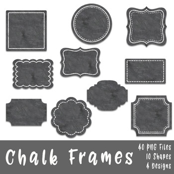 Chalk Frames and Borders Clip Art.