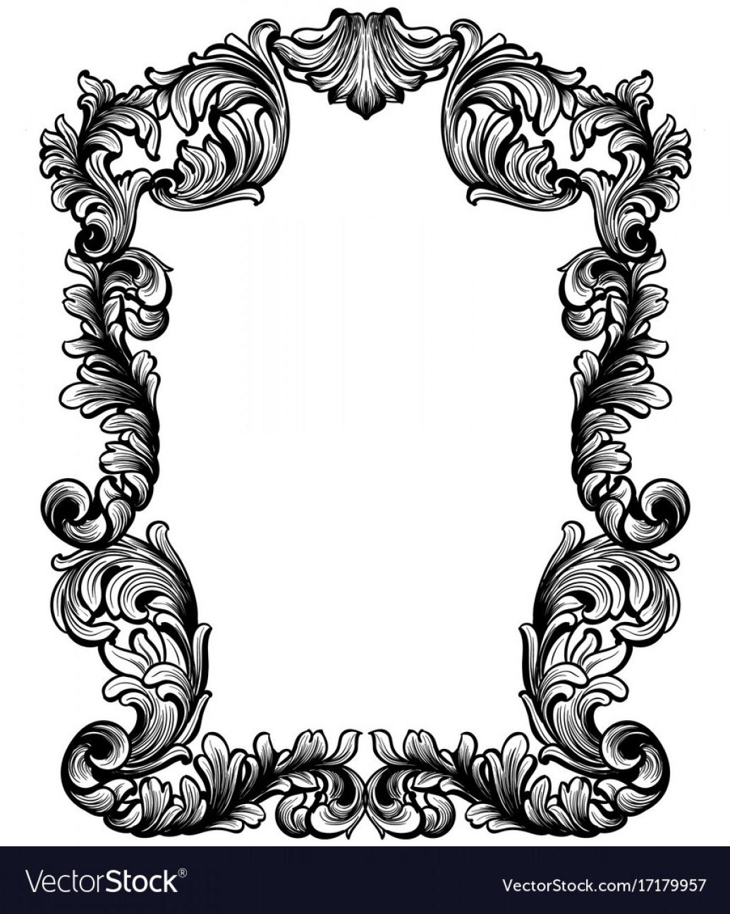 Top Pink Baroque Frames Vector Png File Free » Free Vector.