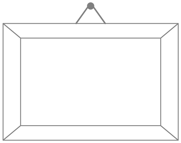 Hanging Picture Frame Clip Art.