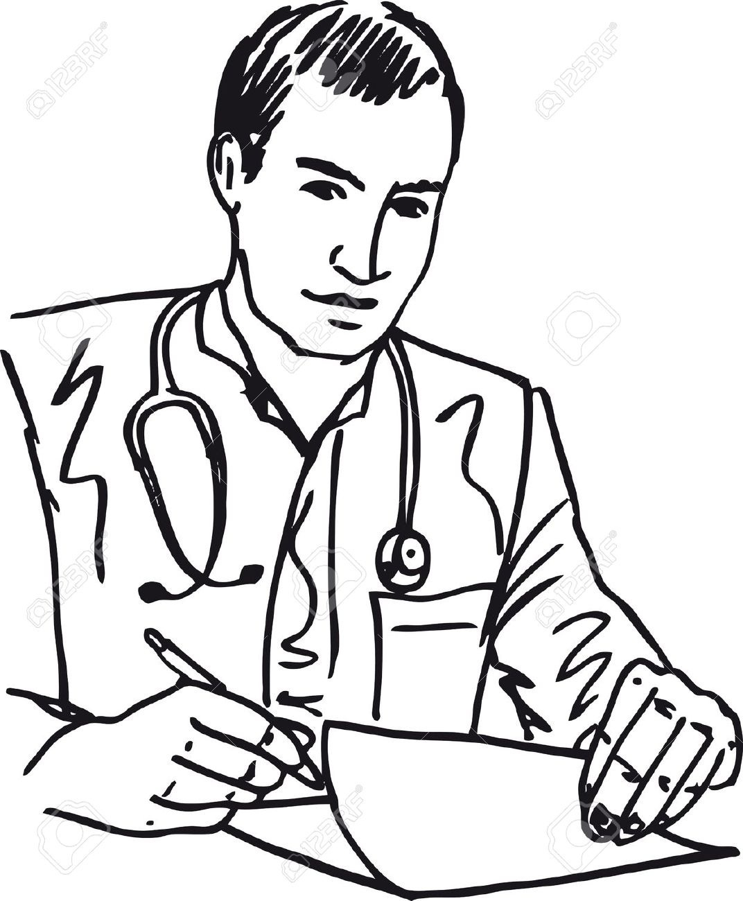 Best Of Doctor Clipart Black And White.