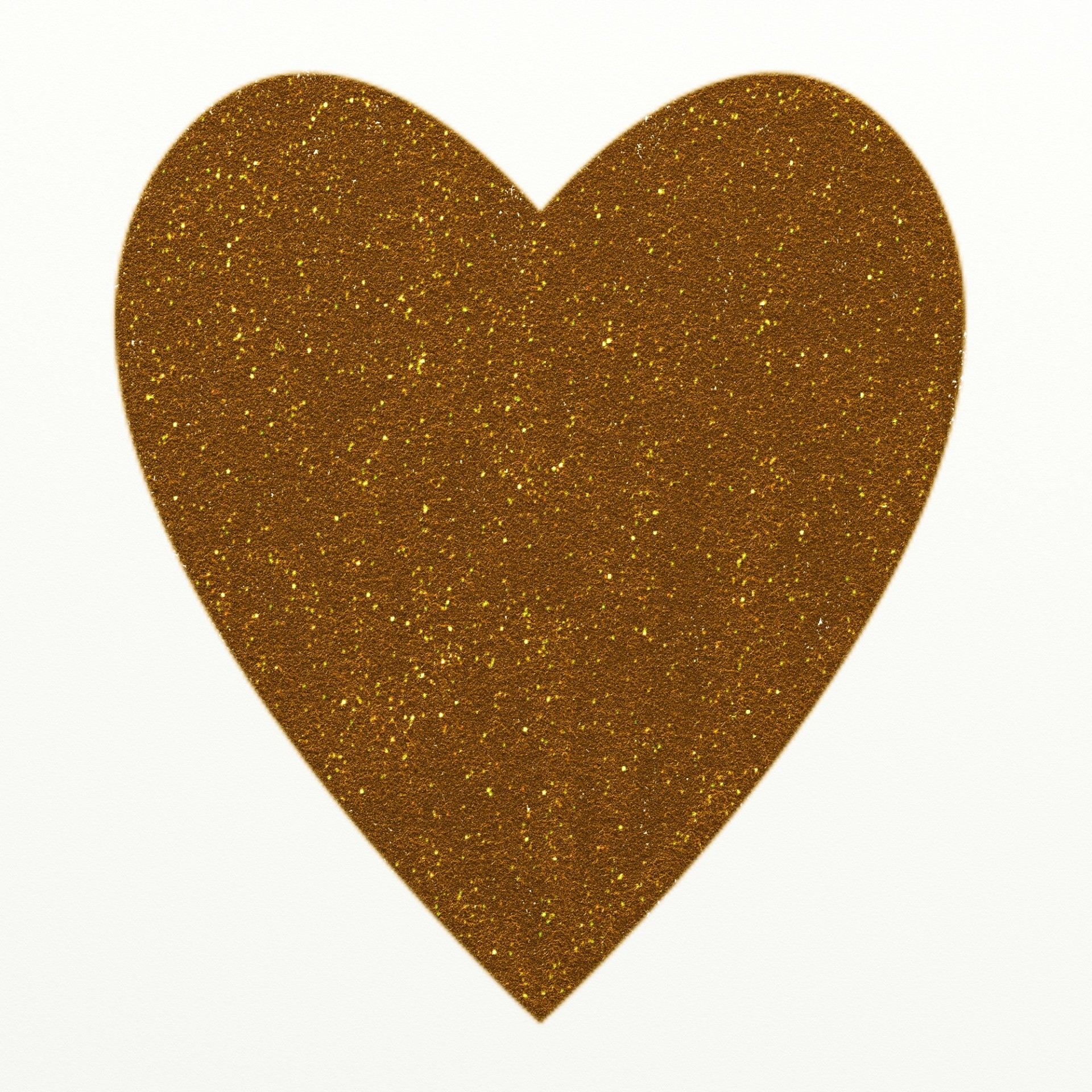 Gold Glitter Heart Clipart Free Stock Photo.