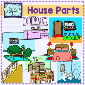 Parts of the house clip art by Teacher\'s Clipart.