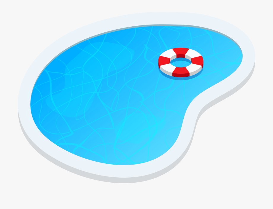 Swimming Pool Oval Png Clip Art.