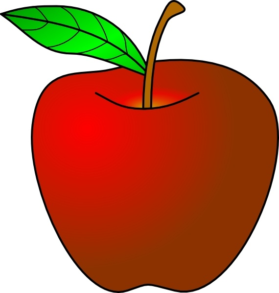 An Apple clip art Free vector in Open office drawing svg.