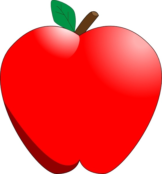Cartoon Apple clip art Free vector in Open office drawing.