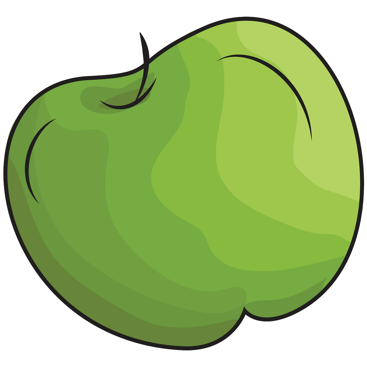 Green apple clipart. Free download..