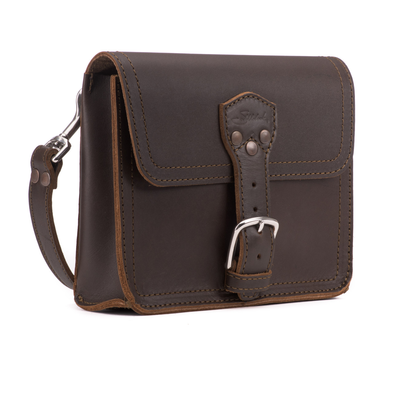 Leather Book Bag Crafted from Premium Full.
