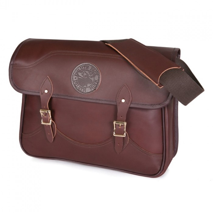 Leather Book Bag.