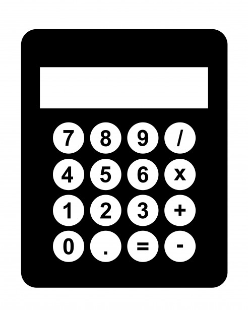 Calculator Black Clipart Free Stock Photo.