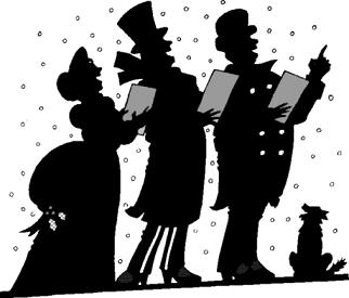 Free Christmas Carolers clipart.